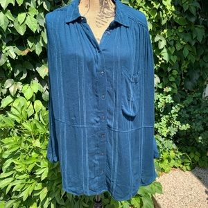 NWT FREE PEOPLE Oversized Button-Down, M